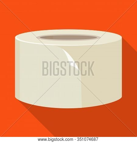 Vector Design Of Scotch And Tape Symbol. Graphic Of Scotch And Roll Vector Icon For Stock.