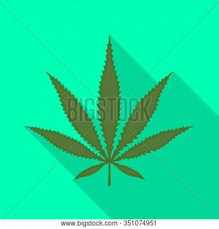 Vector Illustration Of Hemp And Cannabis Icon. Graphic Of Hemp And Leaf Vector Icon For Stock.