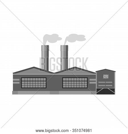 Isolated Object Of Manufactory And Fuel Icon. Collection Of Manufactory And Oil Stock Vector Illustr