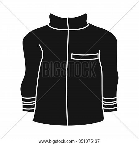 Vector Design Of Jacket And Fireman Sign. Set Of Jacket And Clothing Vector Icon For Stock.