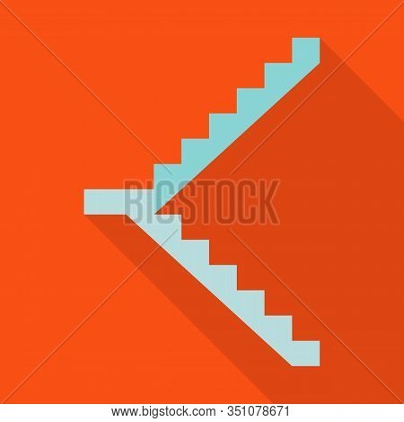 Metal Staircase Vector Icon.flat Vector Icon Isolated On White Background Metal Staircase.
