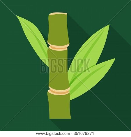 Stem Of Sugar Cane Vector Icon.flat Vector Icon Isolated On White Background Stem Of Sugar Cane .