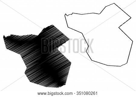 Moka District (republic Of Mauritius, Island, Districts Of Mauritius) Map Vector Illustration, Scrib