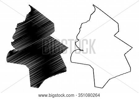 Pamplemousses District (republic Of Mauritius, Island, Districts Of Mauritius) Map Vector Illustrati