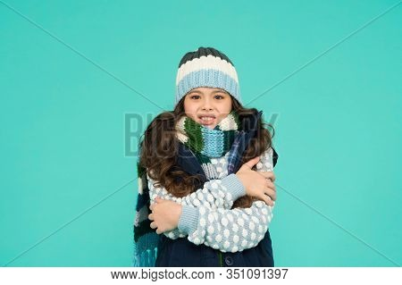 Winter Vibes. Portrait Of Girl Hipster. Youth Street Fashion. Winter Flue. Feeling Cold This Season.