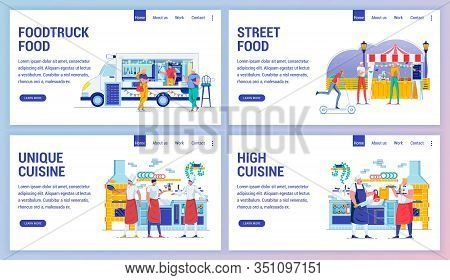 Street Food, Unique And High Cuisine, Foodtruck. Outdoor Dining And Cooking Facilities In Profession
