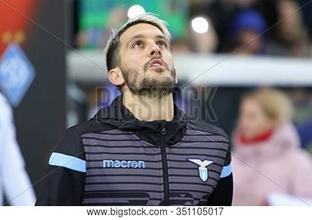 Kyiv, Ukraine - March 15, 2018: Luis Alberto Of Ss Lazio Goes To The Pitch Before Uefa Europa League