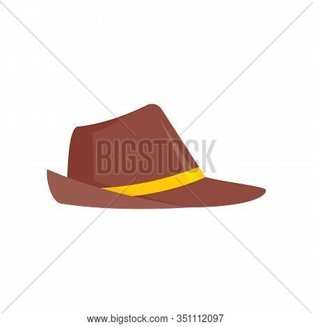 German Hat Flat Icon. Vector German Hat In Flat Style Isolated On White Background. Element For Web,