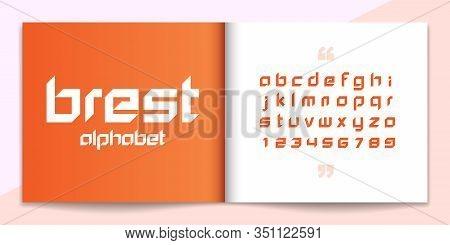 Modern Font And Alphabet Set. Lettering Design For Magazine, Poster, Logo Or Advertising Media. Typo