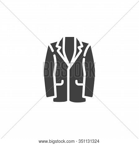Mens Suit Jacket Vector Icon. Filled Flat Sign For Mobile Concept And Web Design. Business Suit Jack