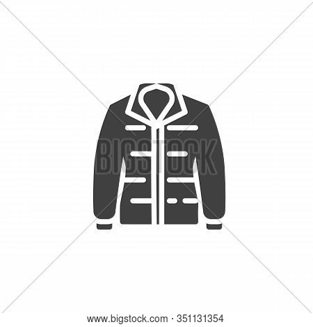 Mens Jacket Vector Icon. Filled Flat Sign For Mobile Concept And Web Design. Long Sleeves Jacket Gly