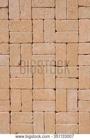 Cobblestone Textured Background.  Cobblestone Pavement Textured Background