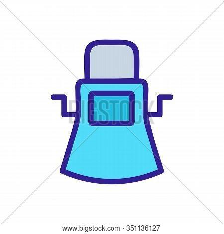 Blacksmith Robe Icon Vector. Thin Line Sign. Isolated Contour Symbol Illustration