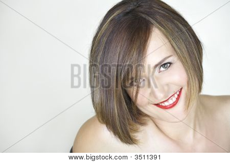 Beautiful Young Woman With Natural Make-Up