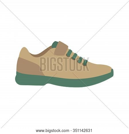 Sporty Modern Sneaker Cycling Shoes. Flat Simple Cartoon Vector Illustration