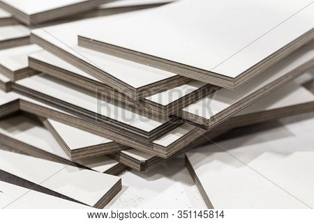 White Textolite Sheets. This Is Layered Composite Material Based On Fabric From Fibers And A Polymer