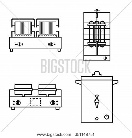 Isolated Object Of Household And Industrial Icon. Collection Of Household And Equipment Vector Icon