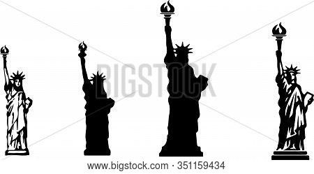 Statue Of Liberty Icon Isolated On Background