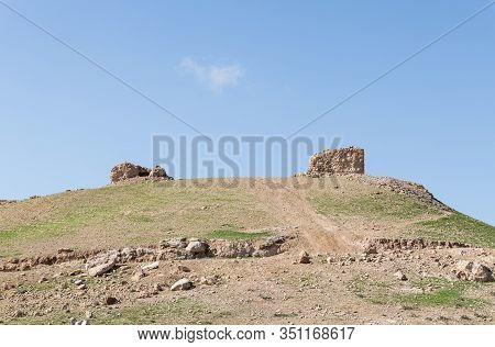 The Uninhabited Abandoned Ruins Of The Templar Fortress Malduam In Samaria In Israel
