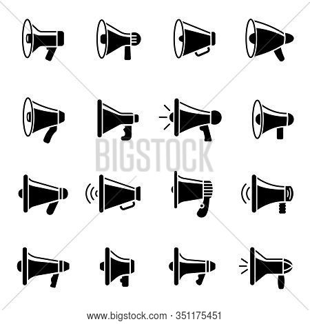 loud speaker icons vector photo free trial bigstock loud speaker icons vector photo