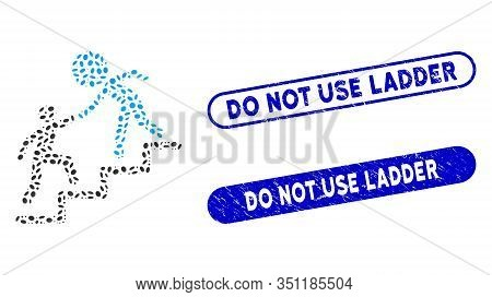 Mosaic Time Manager Help And Corroded Stamp Seals With Do Not Use Ladder Phrase. Mosaic Vector Time