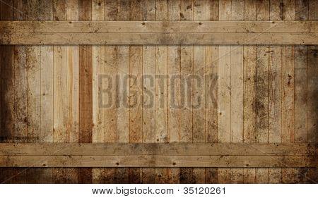 Weathered cedar background panel.