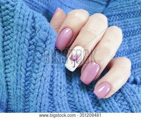 Female Hand Finger Beautiful Manicure Sweater  Clothing