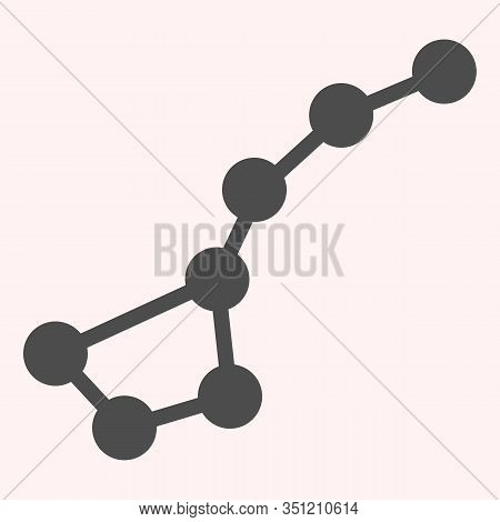 Constellation Ursa Major Glyph Icon. Stars In Other Galaxy. Astronomy Vector Design Concept, Solid S