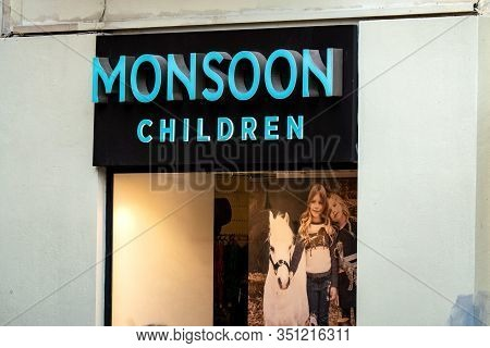 Mdina, Malta - October 29, 2019: Storefront Of The Monsoon Children Fashion Store Which Sells Clothi