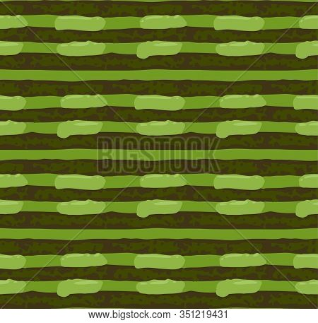 Biscuit And Creamy Layers Of Matcha Cake. Seamless Pattern