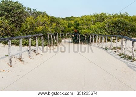 Dunes Near Torre San Giovanni Between Gallipoli And Leuca, Salento, Apulia, Italy.
