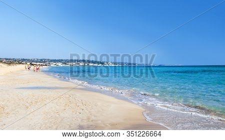 Pescoluse Beach Near Salve, The Maldives Of Salento, Puglia, Italy