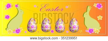 Easter Eggs. Happy Easter Card. Multi-colored Easter Eggs. Easter. Easter Background. Easter Eggs. E