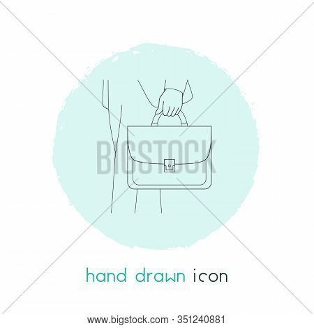 Briefcase Icon Line Element. Vector Illustration Of Briefcase Icon Line Isolated On Clean Background