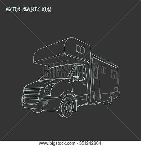 Campervan Icon Line Element. Illustration Of Campervan Icon Line Isolated On Clean Background For Yo