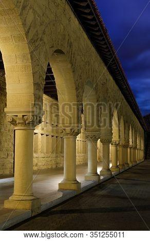 Exterior Colonnade Hallway, Palo Alto, Santa Clara County, California