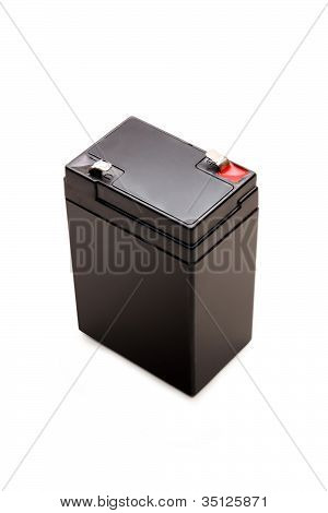 6 Volts Battery Isolated With Clipping Path