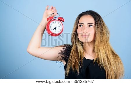 Lack Of Time. Bell Is Ringing. Good Morning. Woman Being Late. Business Deadline. Time Management. T