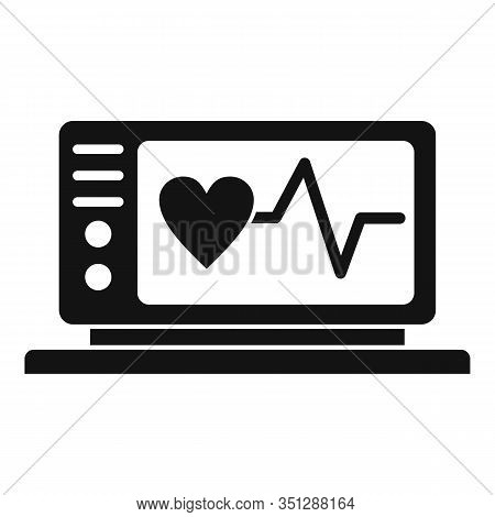 Electrocardiogram Icon. Simple Illustration Of Electrocardiogram Vector Icon For Web Design Isolated