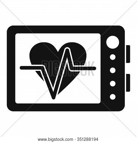 Online Cardiogram Icon. Simple Illustration Of Online Cardiogram Vector Icon For Web Design Isolated