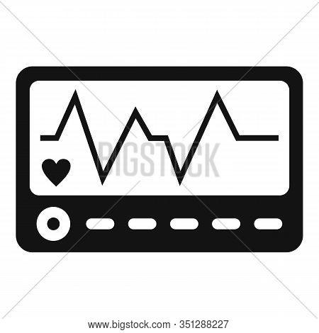 Patient Electrocardiogram Icon. Simple Illustration Of Patient Electrocardiogram Vector Icon For Web