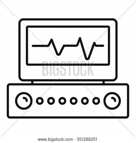 Electrocardiogram Icon. Outline Electrocardiogram Vector Icon For Web Design Isolated On White Backg