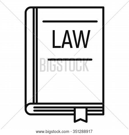 Legislation Book Icon. Outline Legislation Book Vector Icon For Web Design Isolated On White Backgro