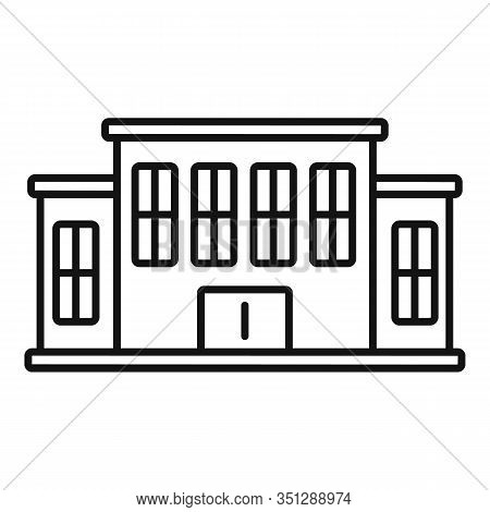 Tribunal Building Icon. Outline Tribunal Building Vector Icon For Web Design Isolated On White Backg