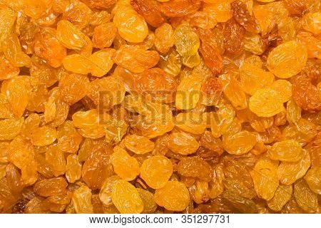 Sultana.dried Grapes.seedless Raisins From Light Grapes.background Of Raisins.