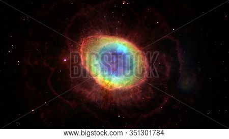 The Ring Nebula Is A Planetary Nebula In The Northern Constellation Of Lyra. Elements Of This Image