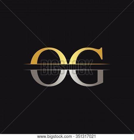 Initial Monogram Letter Og Logo Design Vector Template. Og Letter Logo Design
