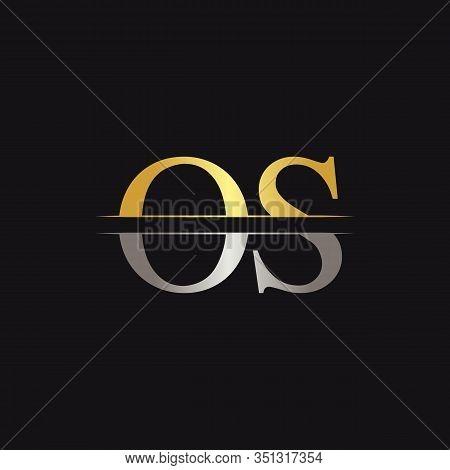 Initial Monogram Letter Os Logo Design Vector Template. Os Letter Logo Design