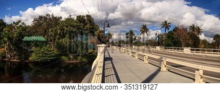 Bridge Leading To The Everglades Wonder Gardens In Bonita Springs, Florida