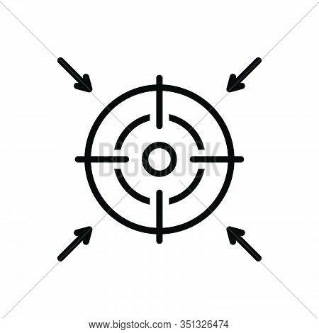 Black Line Icon For Goal Ambition Intention Target Destination Achievements
